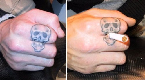 A new creativity finger tattoos for men