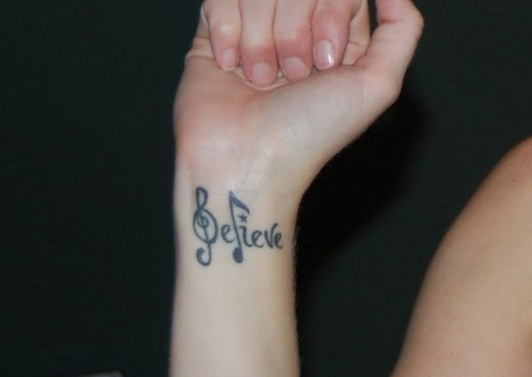 bracelet tattoos with words
