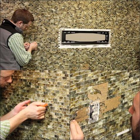 Custom wall mosaic tiles design