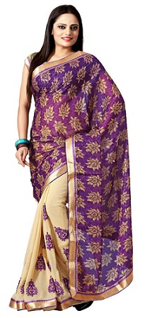 Different ways to wear a saree 10