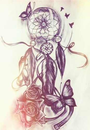 Top 30 dreamcatcher tattoo designs and meanings styles for Dreamcatcher tattoo template