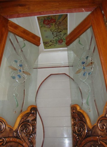 Bavas Wood Works Pooja Room Door Frame And Door Designs: Top 9 Pooja Room Door Designs