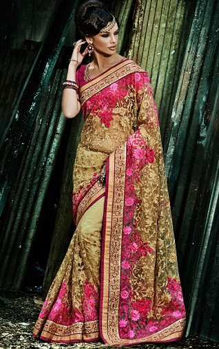 Heavy pink Designer Saree