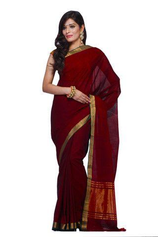 Mangalagiri cotton sarees Plain Jane