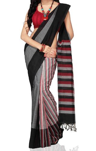 Mangalagiri cotton sarees Ruling stripes