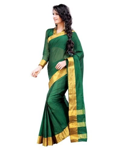 Mangalagiri emerald gold cotton sarees