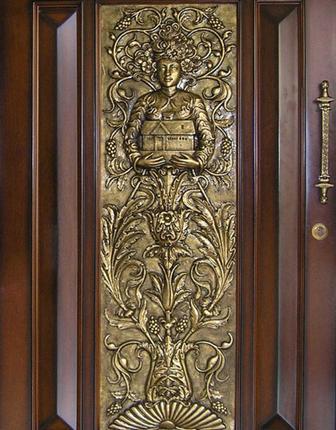 Metal work door design Pooja room door designs