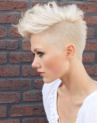 Bleached Mohawk Hairstyle