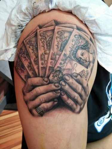 money sign tattoo