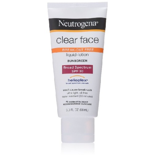 Neutrogena Clear Face Liquid Lotion Sunscreen Broad Spectrum SPF 30