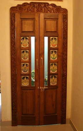 Top 9 pooja room door designs styles at life for Room door design for home