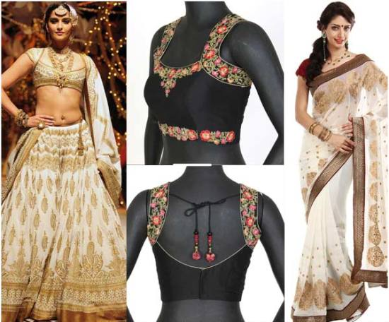 Pattu saree blouse designs flowery blouse