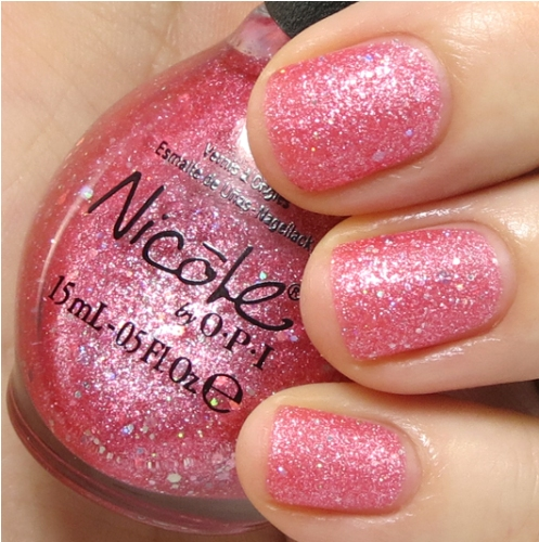 Pink Nail polishes extra glimmer pink