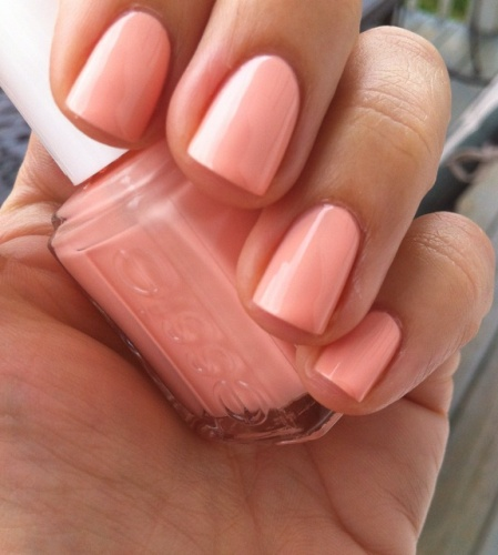 Pink Nail polishes peach perfect pink