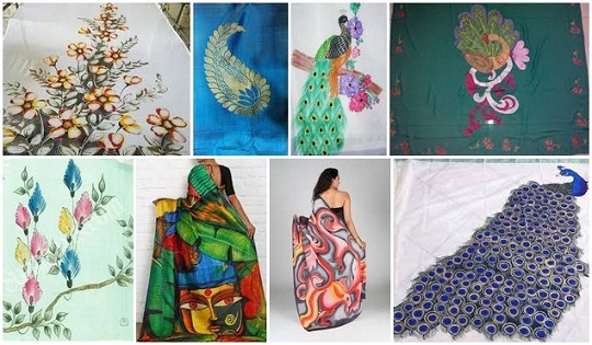 Saree Painting Designs