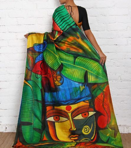 Saree painting designs intricate tribal