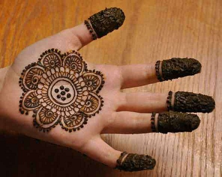 Single Palm Henna Art