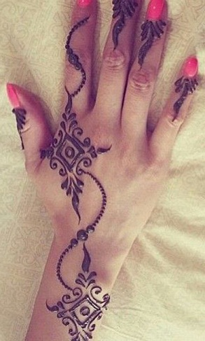 simple-diamond-wrist-band-design-simple-and-easy-mehandi-designs-for-beginners