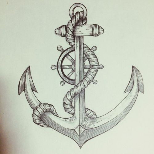 The wheel and the anchor Tattoo