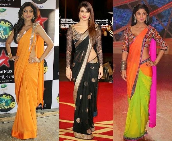 Unique ways to wear a saree 1