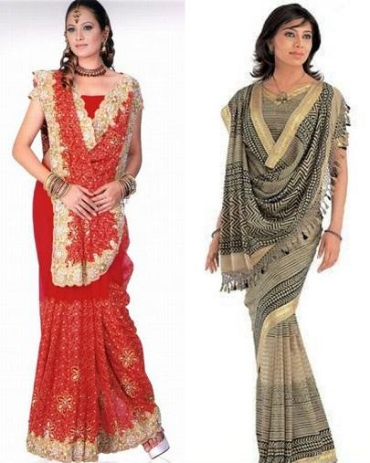 Unique ways to wear a saree 4