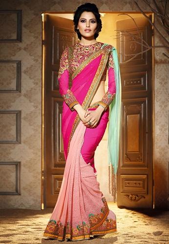 Unique ways to wear a saree 5