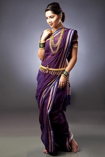 Unique ways to wear a saree 8