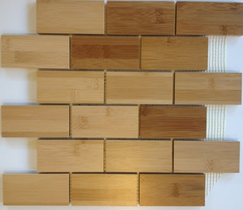 Wooden bricks tiles