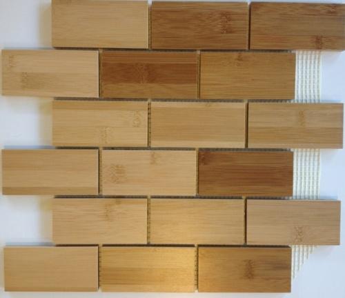 Wooden bricks tiles