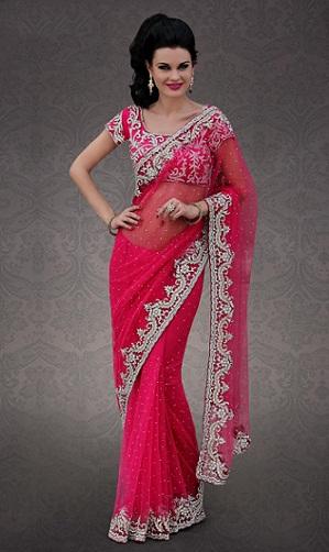 pink Paneri designer saree