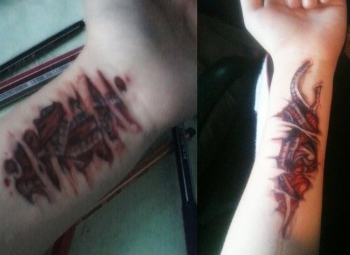 9 best fake tattoo designs with pictures styles at life for Tattoo on fake skin