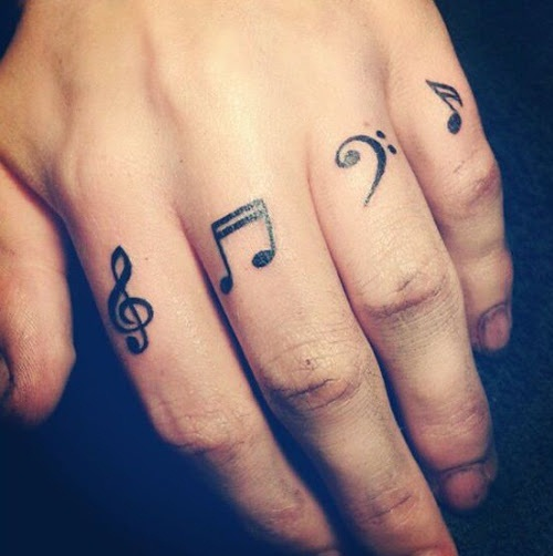 Tattoo in finger Clefs