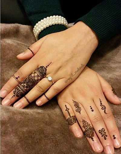 unique finger tattoos decorative designs