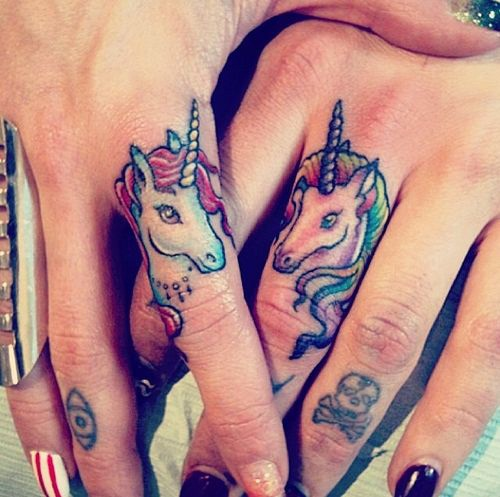 unicorns tinger tattoo designs