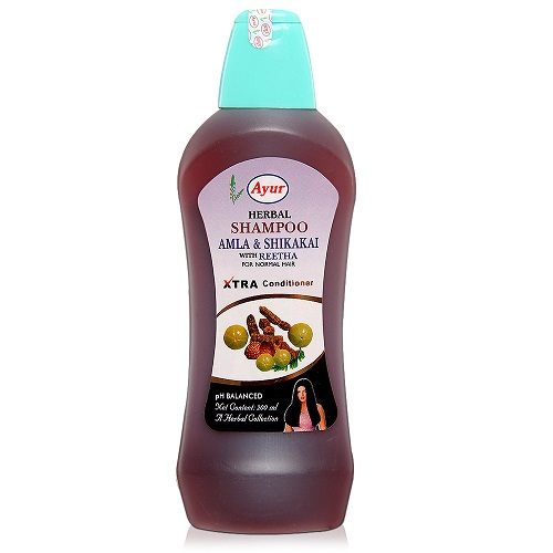 Ayur Herbal Amla And Shikakai Shampoo