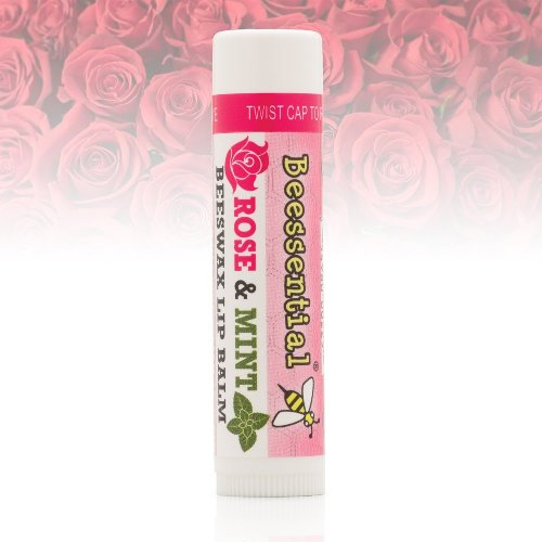 Beessential rose and mint beeswax lip balm