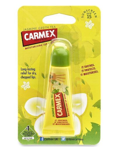Carmex Jasmine green tea moisturizing lip balm