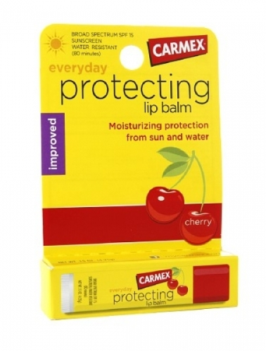 Carmex cherry healing lip balm tube