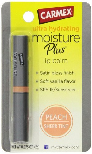 Carmex moisture plus peach sheer tinted lip balm