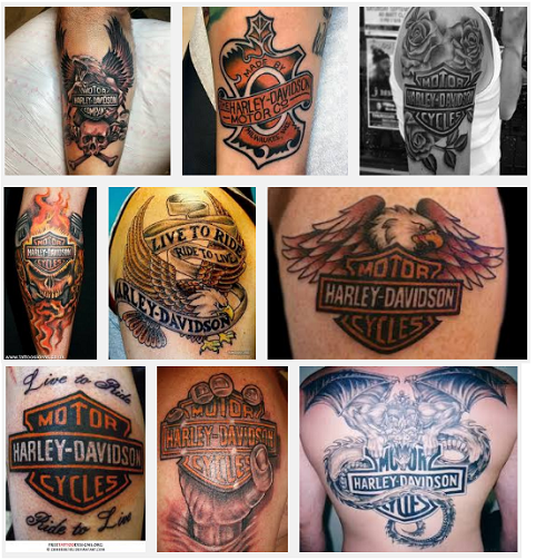harley davidson tattoo designs
