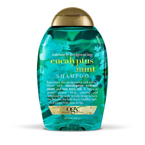 Organix intensely invigorating eucalyptus mint shampoo