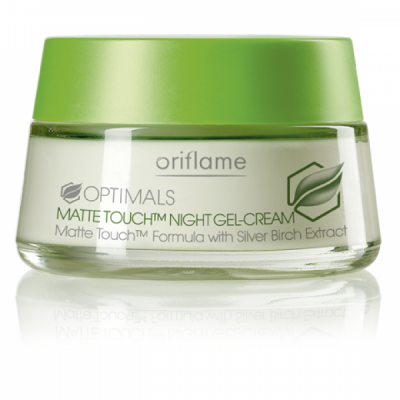 Oriflame optimals matte touch night gel cream