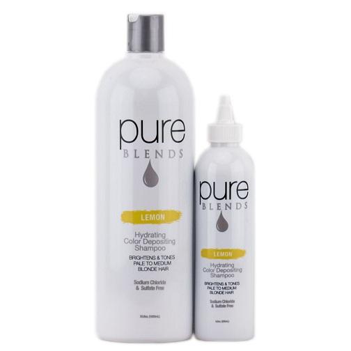 Pure Blends Lemon Color Depositing Shampoo