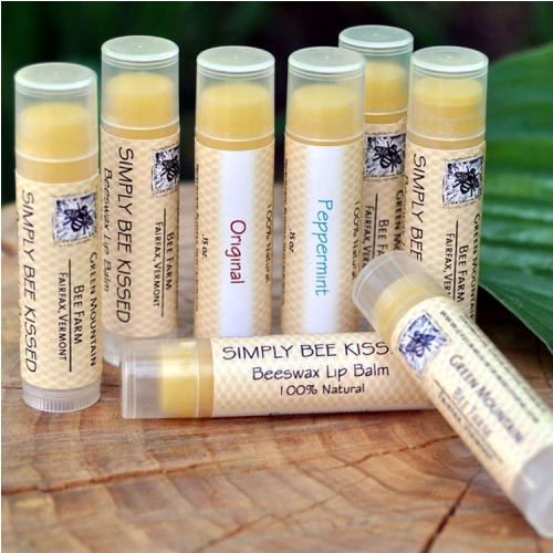 Simply bee kissed beeswax lip balm