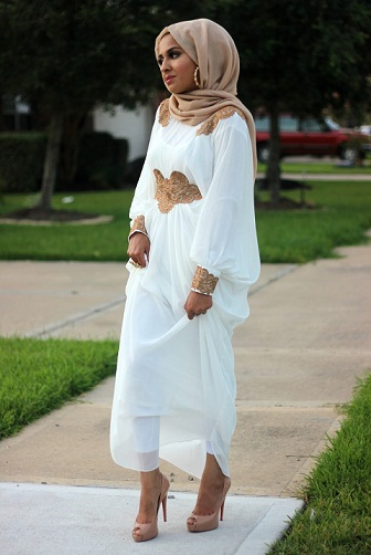 Styling Kaftans as Scarf