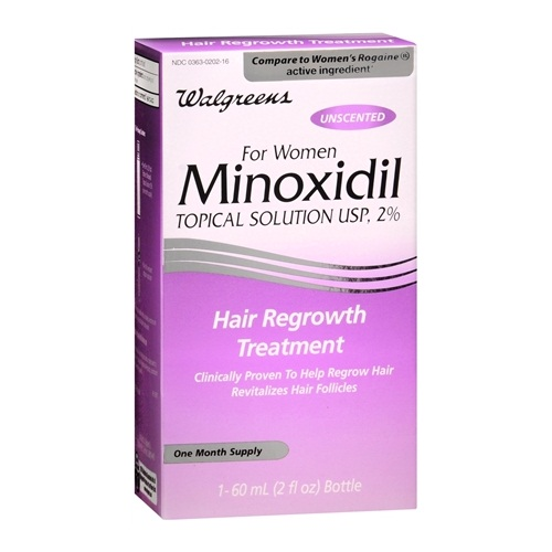 Walgreens Women topical solution minoxidil shampoo