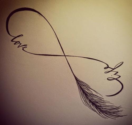 infinity love tattoo design