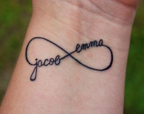 name infinity tattoo design
