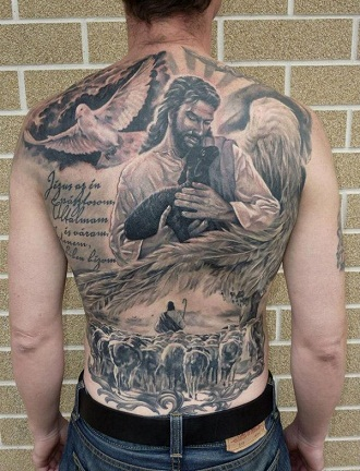 Jesus image tattoos