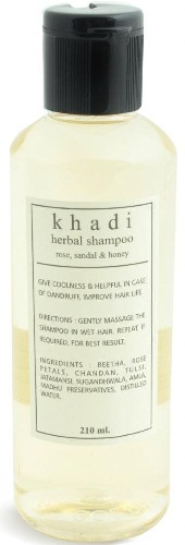 Khadi Herbal Shampoo Rose Sandal and Honey